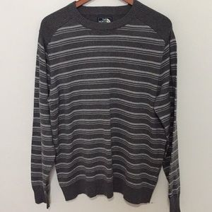 The north face gray striped sweater